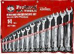 "Proferred 14 Pieces Combination Wrenches Set (3/8"" - 1 1/4"")"