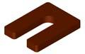 Horse Shoe Shim 1/2 x 3 x 4, Brown Plastic (Case of 250)