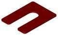 Horse Shoe Shim 1/8 x 3 x 4, RED Plastic (Case of 1,000)