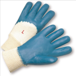 West Chester 4050 Palm Coated Jersey Lined Nitrile Knit Wrist Gloves