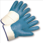 West Chester 4550 Heavy Weight Nitrile Palm Coated Safety Cuff Gloves