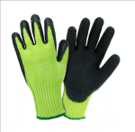 West Chester 705CGLB Hi Vis Green HPPE Shell with Black Latex Crinkle Finish