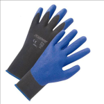 West Chester 713SPA Air Injected Blue PVC Palm Coated Black Nylon Gloves