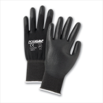West Chester 713SUCB Black PU Palm Coated Black Nylon Gloves