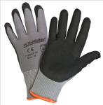 West Chester 715SNFTP Black Foam Nitrile Palm Dip on Gray Nylon Shell