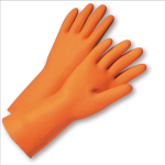 West Chester 2208 Unsupported Orange Latex Gloves