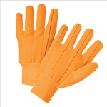 West Chester K81SCNCORI Hi Vis Corded Double-Palm Poly/Cotton Gloves Orange