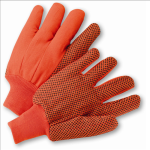 West Chester K81SCNCORIPD Hi Vis PVC Dot Corded Double-Palm Green Orange