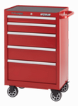"""Professional Shop Series 26"""" Wide 5-Drawer Cabinet - Red"""