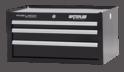 "Professional Series 26"" Wide 3-Drawer Intermediate Chest - Black"