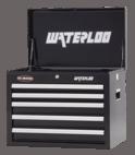 """Waterloo Series 26"""" Wide 5-Drawer Chest - Black"""