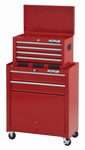 Waterloo Shop Series 6-drawer friction Tool Center in red finish