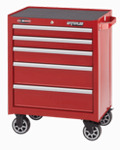 """Waterlool Shop Series 26"""" Wide 5-Drawer Cabinet - Red"""