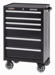 """Waterlool Shop Series 26"""" Wide 6-Drawer Cabinet - Black"""