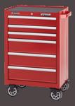 """Waterlool Shop Series 26"""" Wide 6-Drawer Cabinet - Red"""