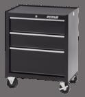 """Waterlool Shop Series 26"""" Wide 3-Drawer Cabinet - Black"""