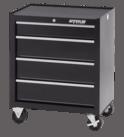 """Waterlool Shop Series 26"""" Wide 4-Drawer Cabinet - Black"""