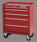 """Waterlool Shop Series 26"""" Wide 5-Drawer Cabinet (14"""" depth) - Red"""