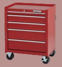 """Waterlool Shop Series 26"""" Wide 5-Drawer Cabinet (18"""" depth) - Red"""
