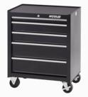 """Waterlool Shop Series 26"""" Wide 5-Drawer Cabinet - Black"""