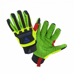 West Chester 87800 R2 Green Corded Palm Rigger glove with hook and loop wrist