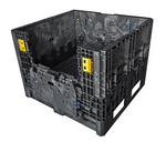 "Buckhorn® Black 32""L x 30""W x 34""H Collapsible Industry Standard Box - 1,800lb Capacity"