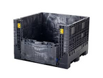 "Buckhorn® Black 48""L x 45""W x 51""H Extra-Duty Drop Doors Box - 2,000lb Capacity"