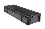 "Buckhorn® Dark Grey 24""L x 15""W x 6""H Straight Wall Container"