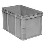 "Buckhorn® Light Grey 24""L x 15""W x 14""H Straight Wall Container"