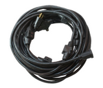 "Century Wire & Cable 300V Century® 32-1/2""  Black Power Distribution Cord"