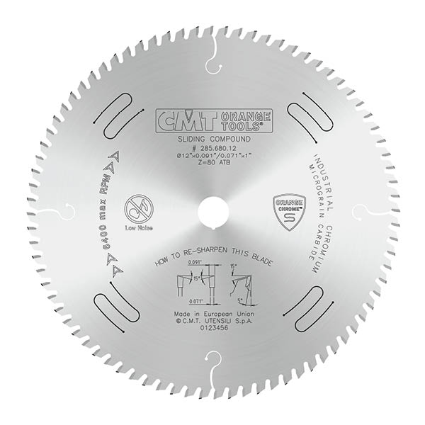 """CMT 12"""" x 96T x 1"""" Ultimate Cut Off Tungsten Carbide Tipped Circular Saw Blade"""