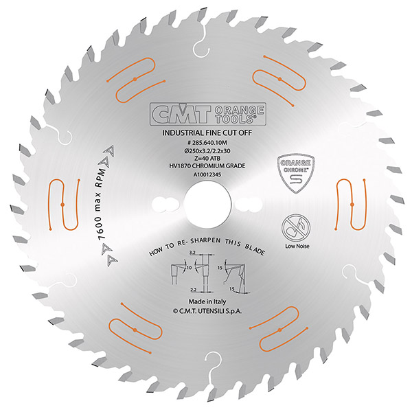 CMT 350mm x 54T x 30mm Industrial Low Noise & Chrome Coated Tungsten Carbide Tipped Circular Saw Blade