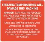 "Decal, Freezing Temps Will Damage Machine, 4? x 3.75"""