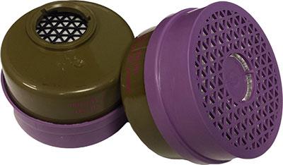 Dentec Safety Multi Gas Vapor Combination Cartridges - 2 Pairs