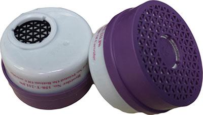 Dentec Safety P100 Acid Gas Combination Cartridges - 2 Pairs