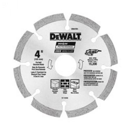 "Dewalt DW4782 4-1/2"" HP Segmented Diamond Blade"