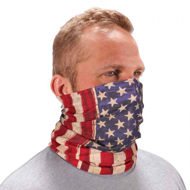 Ergodyne Chill-Its® American Flag Multi-Use Face Mask