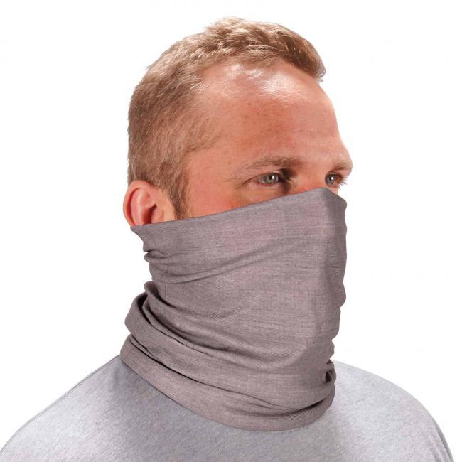 Ergodyne Chill-Its® Heather Gray Multi-Use Face Mask