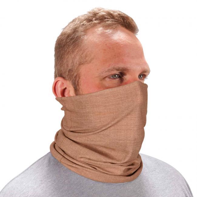 Ergodyne Chill-Its® Heather Khaki Multi-Use Face Mask