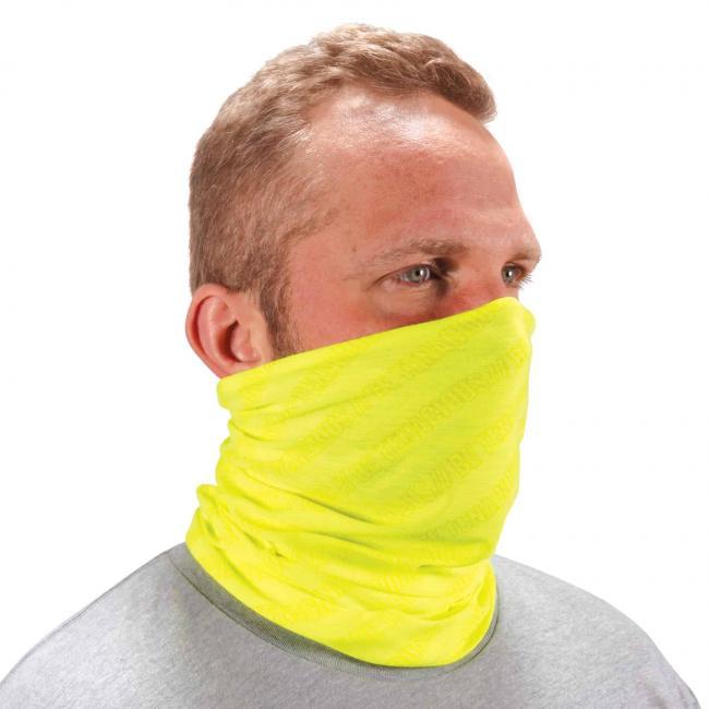 Ergodyne Chill-Its® Hi-Vis Lime Multi-Use Face Mask