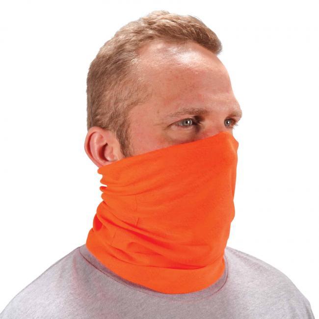 Ergodyne Chill-Its® Hi-Vis Orange Multi-Use Face Mask