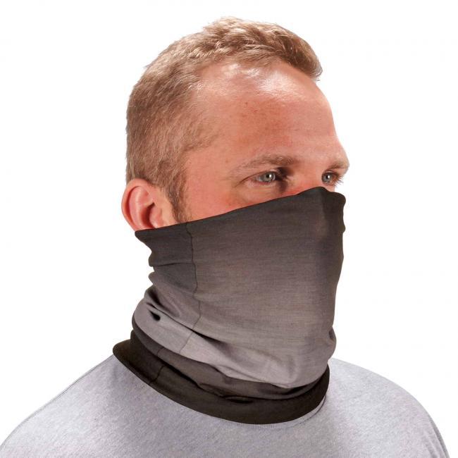 Ergodyne Chill-Its® Light Gray Fade Multi-Use Face Mask