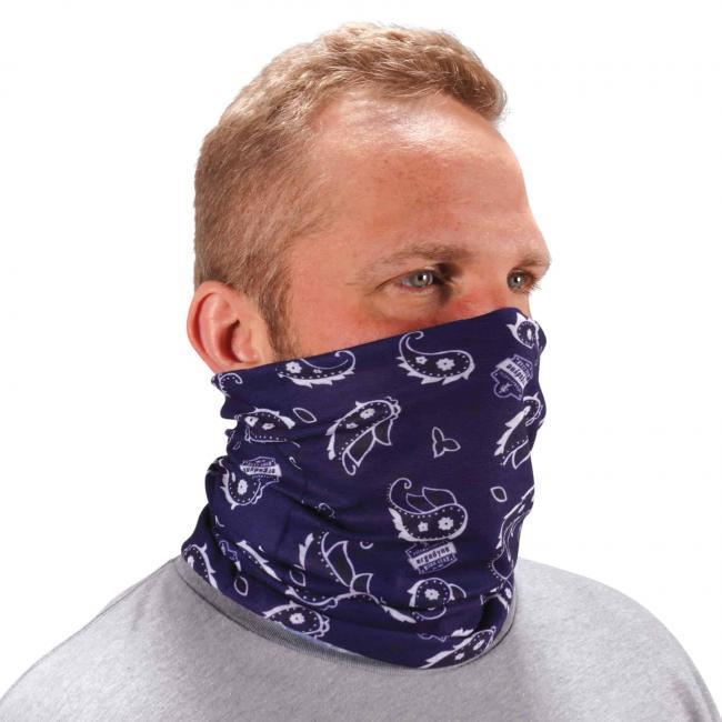 Ergodyne Chill-Its® Navy Western Multi-Use Face Mask