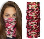 John Boy Multi-Wear Face Guard - Pink Camo