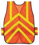 MCR Safety General Purpose One Size Orange Chevron Pattern Safety Vest
