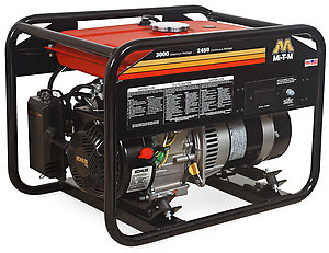 Mi-T-M 3,000 Watt Gasoline Generator - Kohler Engine