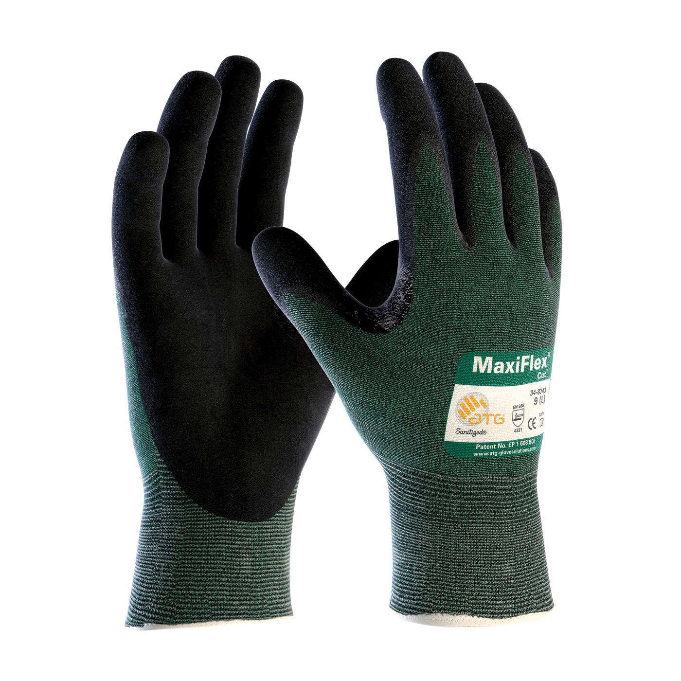 PIP® MaxiFlex® Cut™ Green 15G Seamless Knit Cut Resistant Nitrile Coated Microfoam Grip Gloves
