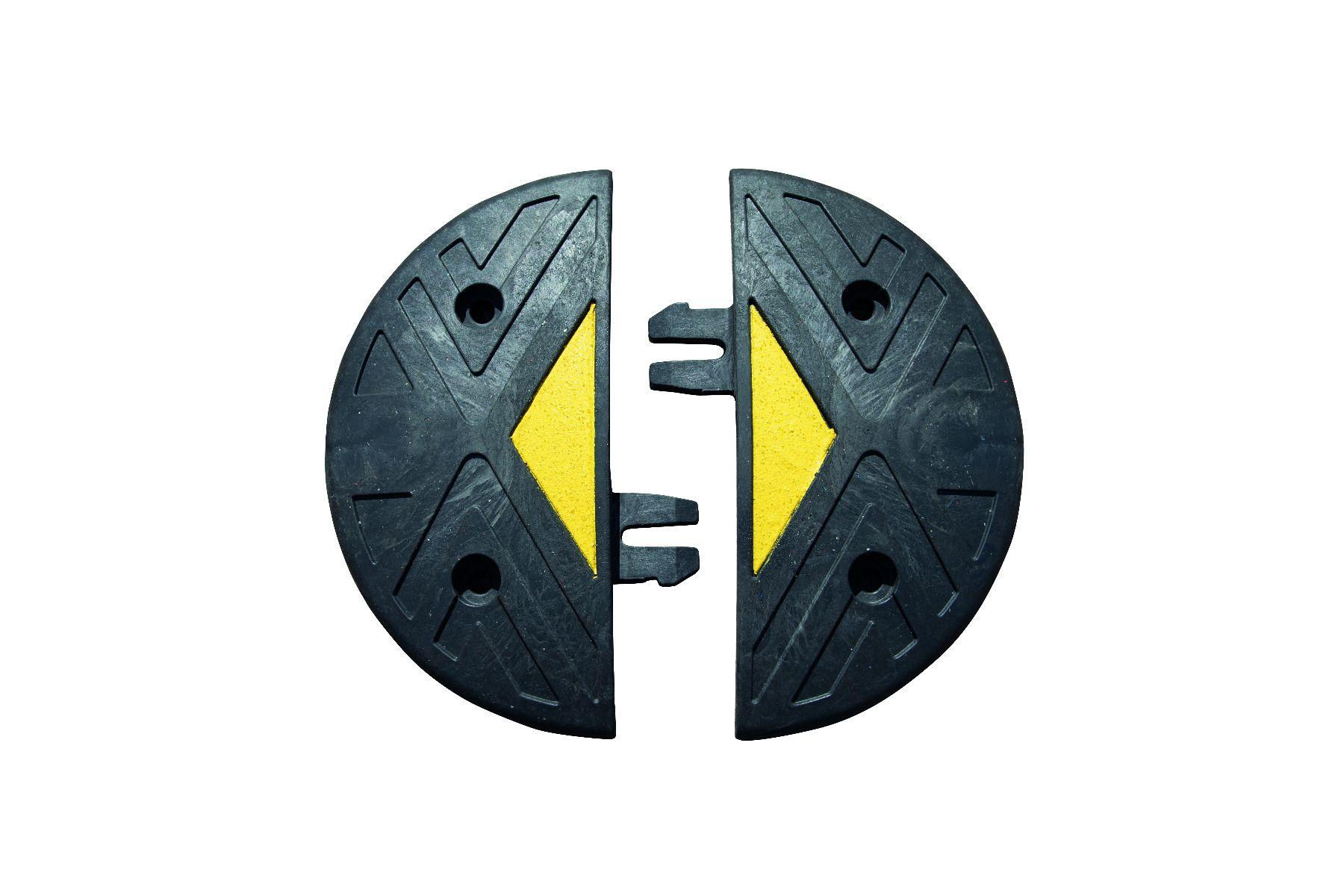 "Ridgeback® Heavy Duty PVC Speed Bump End Caps - 3"""" (5mph)"