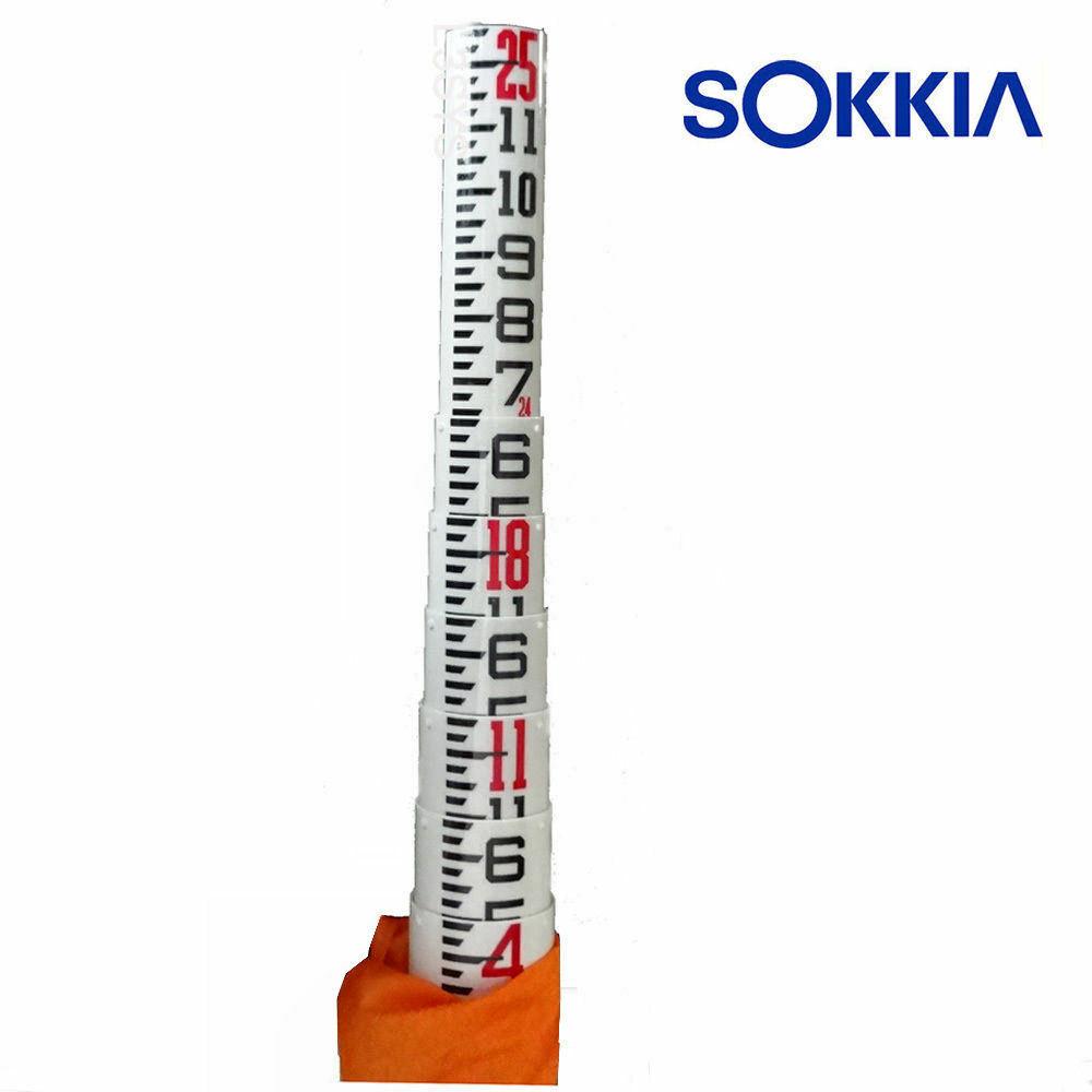 Sokkia 25 Foot Oval Fiberglass SK Rod in Inches (807338)