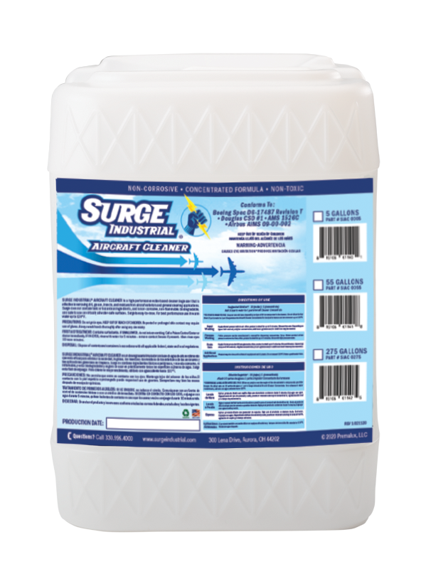 Surge Industrial Aircraft Cleaner Concentrate - 5 Gallons